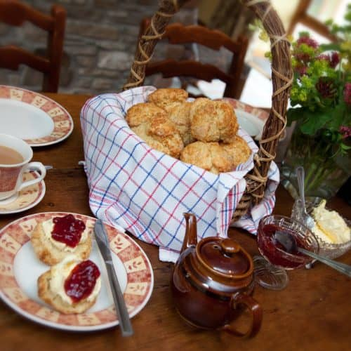 Enjoy Devon Cream Tea at Bampfield Farm Self-Catering Cottages, Barnstaple.