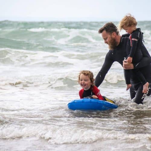 Enjoy family beach days surfing in North Devon while on holiday at Bampfield Farm.