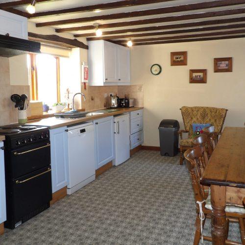 Kitchen in Granary Cottage