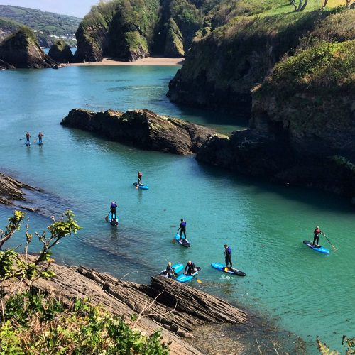 Bampfield Farm cottages paddleboarding at active escape